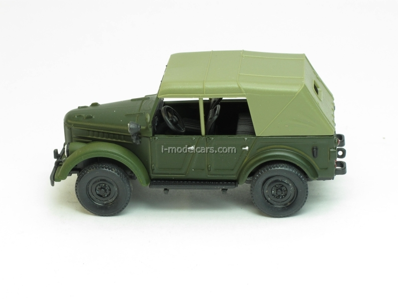 GAZ-69A with awning green matt 1:43 Nash Avtoprom