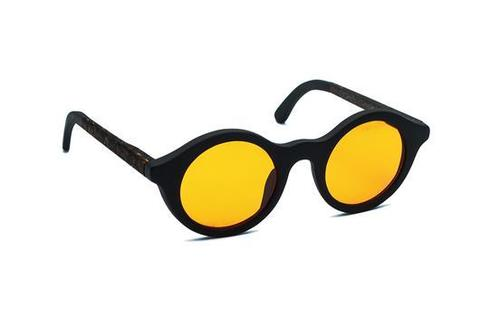 Очки солнечные из кофе OCHIS Round (Жёлтые линзы)