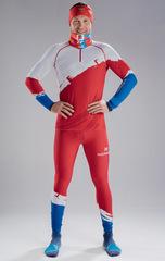 Раздельный лыжный гоночный комбинезон NordSki Premium Red Rus 2020