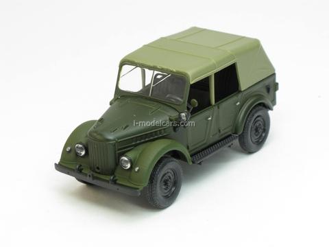 GAZ-69A with awning green matt 1:43 Nash Avtoprom