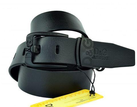 Ремень брендовый мужской чёрный для джинс 40 мм D&G (копия) 40KZ-115