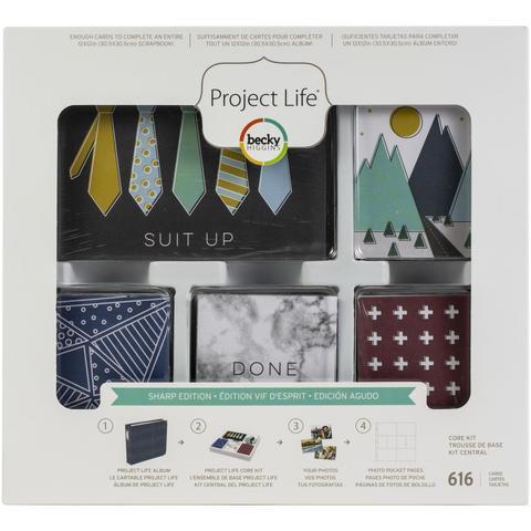 Набор карточек -Project Life CORE KIT-  Sharp Edition- 616 шт. Прямые углы.
