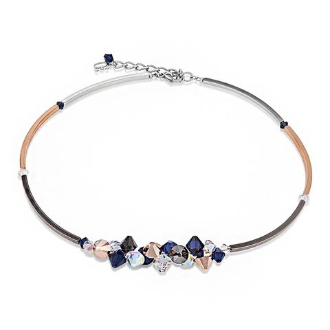Колье Coeur de Lion 4653/10 цвет синий, золотой, прозрачный