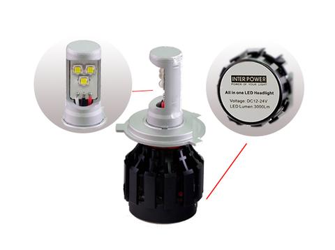 Светодиодные лампы INTERPOWER H4 CREE 30 W (белый свет)