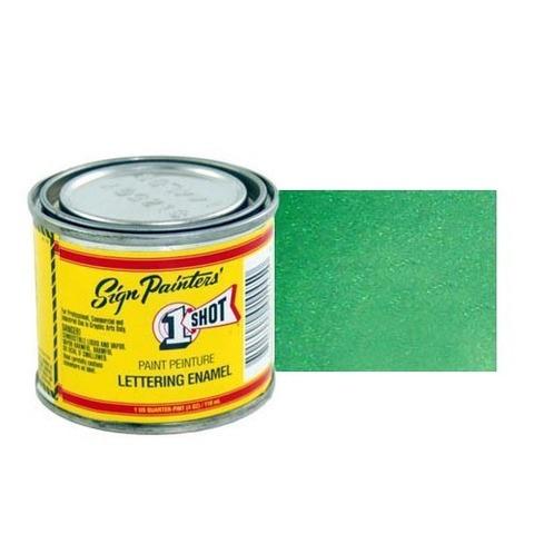 943-P Эмаль для пинстрайпинга 1 Shot Перламутровый лиственно-зелёный (Process green), 236 мл