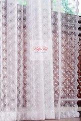 Длинные шторы. Микросетка с вышивкой Ромашка-T (белый)