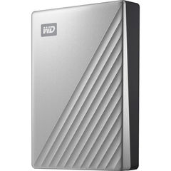 Жесткий диск внешний Western Digital 4TB My Passport Ultra USB-C 3.0 (Серебристый) WD