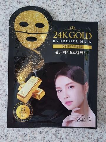 Гидрогелевая маска для лица с 24К золотом, 28 г / Scinic 24K Gold Hydrogel Mask