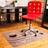 Коврик под кресло с рисунком 900x1200 мм «дзен»