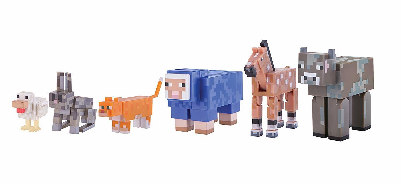 Набор фигурок Майнкрафт Прирученные дикие животные 6шт