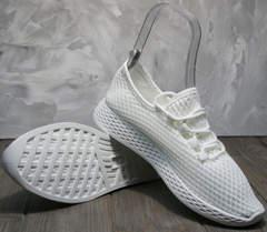Красивые кроссовки женские Small Swan NB283-2 All White.