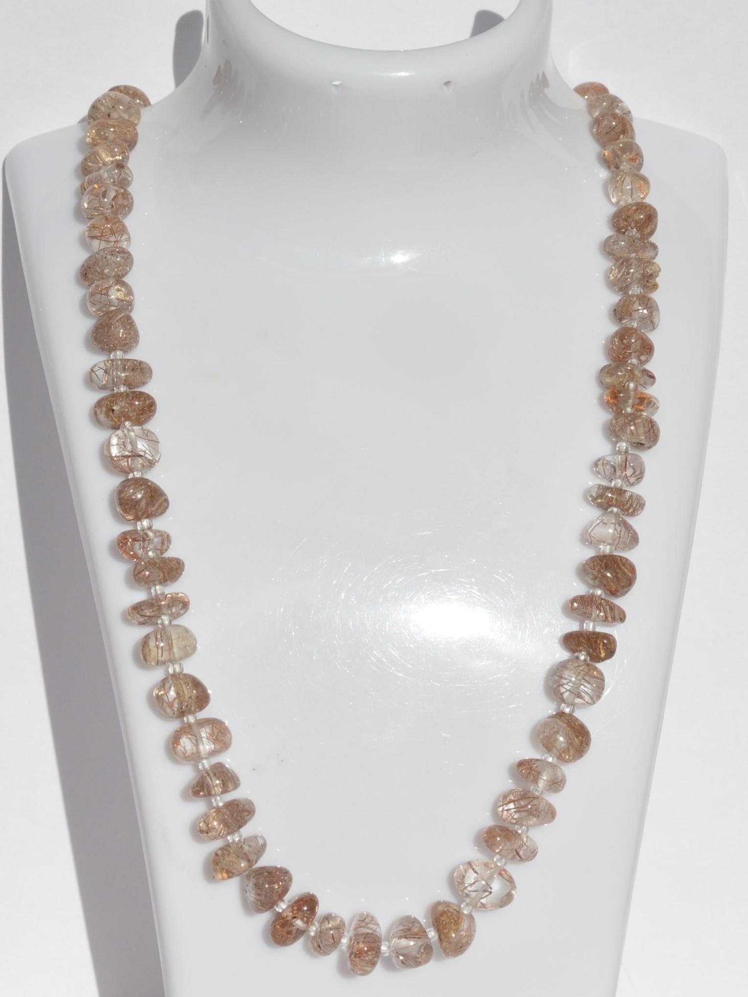 Волосатик Г(бусы из натуральных камней)