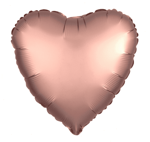 Шар сердце медь, 45 см