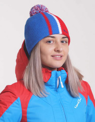 Шапка Nordski Knit Color Blue-Red-White