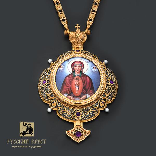 Роспись горячая эмаль икона Божья Матерь Албазинская