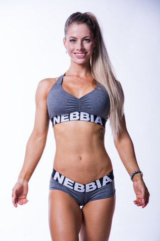 Женский топ Nebbia 223 dark grey