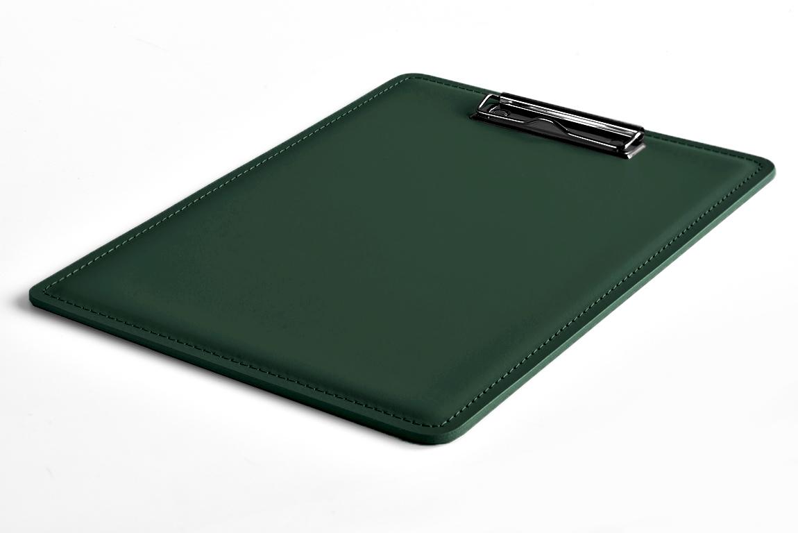 планшет из кожи зеленый А4