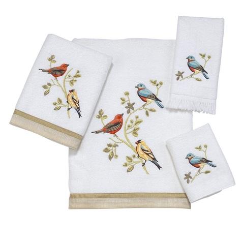 Полотенце 69х127 Avanti Gilded Birds белое