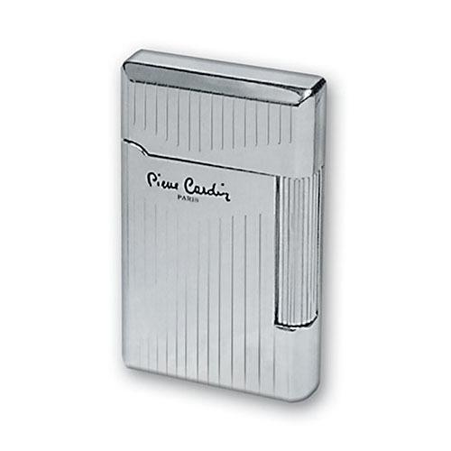 Зажигалка Pierre Cardin кремниевая газовая, цвет серебро с насечкой, 3,7х1,1х6см
