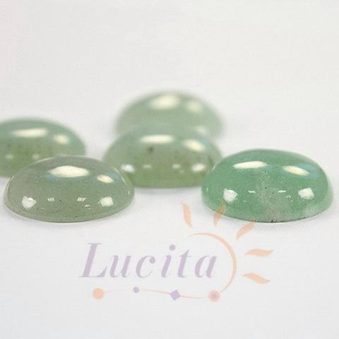 Кабошон круглый Авантюрин зеленый, 16 мм