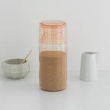 Пластиковая банка с мерным стаканом (1,3 л), Розовый, арт. 290206 - превью 3