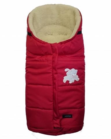 """№12 Спальный мешок в коляску """"Wintry"""", polar флисовый (4/2 красный)"""