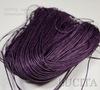 Вощеный шнур, 1 мм, цвет - фиолетовый, примерно 80 м
