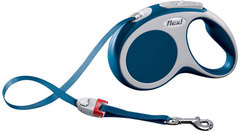 Поводок-рулетка Flexi VARIO S (до 15 кг) 5 м лента синяя