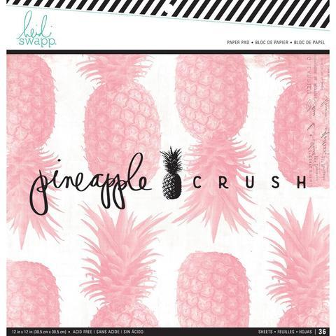 Набор односторонней бумаги 30х30см  Heidi Swapp  -Pineapple Crush -36 л