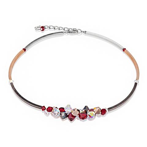 Колье Coeur de Lion 4654 цвет красный, золотой, прозрачный