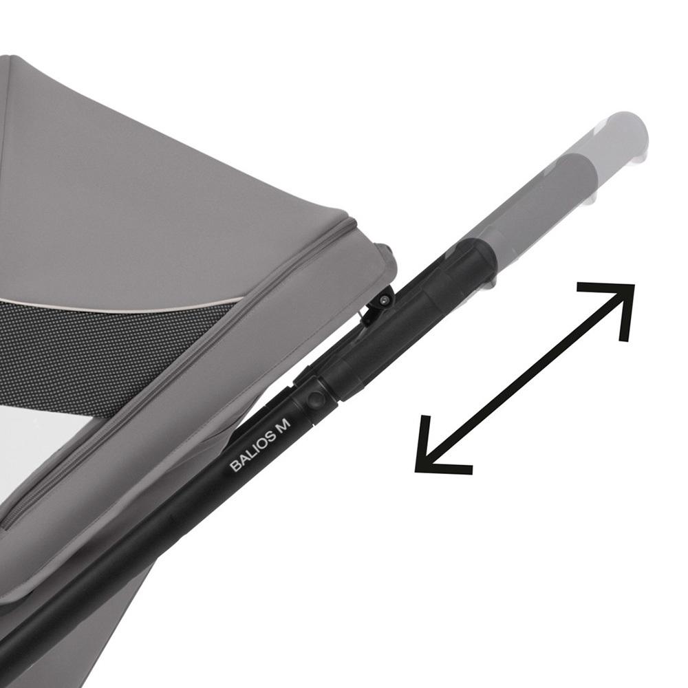 Телескопическая ручка легко регулируется по высоте