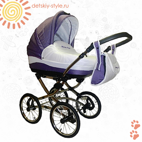 "Коляска Stroller B&E ""Maxima Magic Diamond"" 2в1"