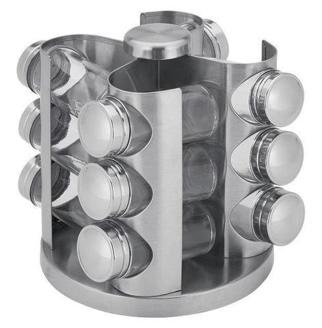 Набор для специй Wellberg 12 емкостей на металлической подставке (WB-7309)