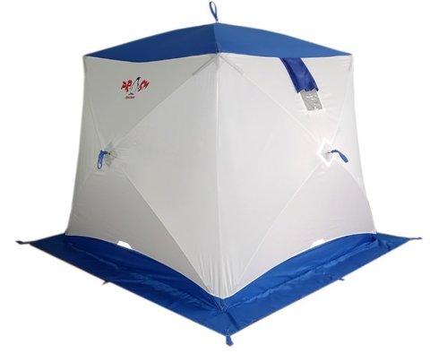 Зимняя палатка куб Пингвин Призма (белый/оранжевый)