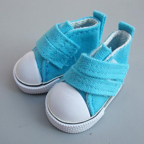 Взуття для ляльки Let's make Кеди на липучці блакитні
