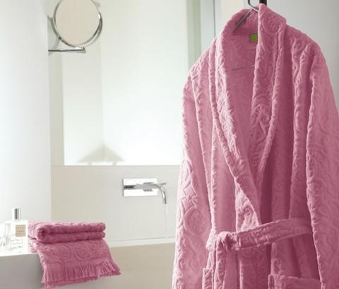 Халат махровый Blanc des Vosges Princess розовый