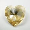 6202/6228 Подвеска Сваровски Сердечко Crystal Golden Shadow (28 мм)