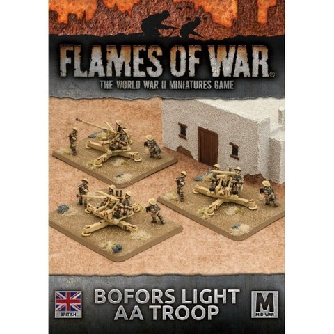 Desert Rats Bofors Light AA Troop (x 3)
