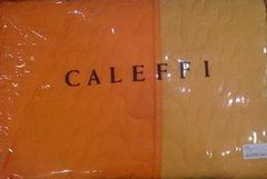 Покрывало 170x270 Caleffi Mix Double оранжевое