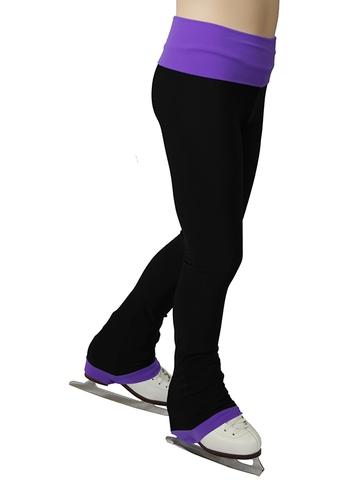 Термобрюки с широким поясом (фиолетовый)