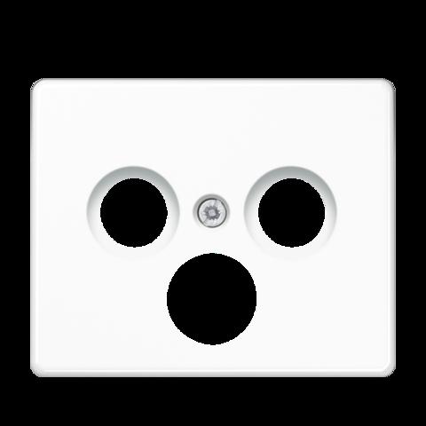Накладка  тройная для антенных розеток. Цвет Белый. JUNG SL. SL561SATWW