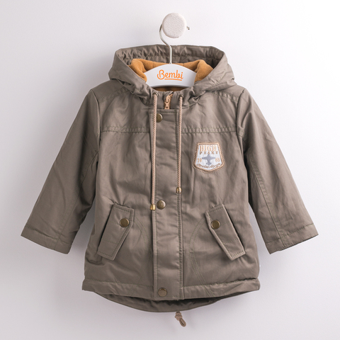 КТ141 Куртка-парка для мальчика утепленная