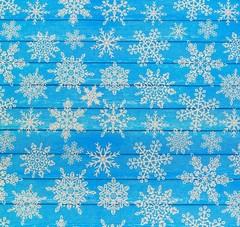 Бумага упаковочная крафтовая «Снежинки на дереве», 50 х 70 см  / 10 рул /