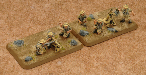 Desert Rats HMG Platoon & Mortar Section (Plastic)