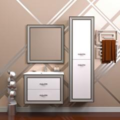 Мебель для ванной Opadiris Карат 80 80х59,5х45см. цвет серебро