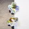 6866 Подвеска Сваровски Крестик Crystal AB (20 мм)