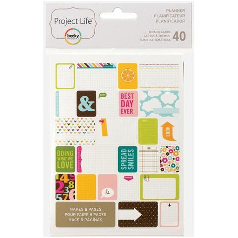 Набор карточек Project Life - Planner 40 шт