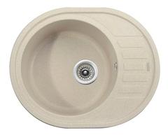 Мойка Kaiser (Кайзер) KGMO-6250-S Sand для кухни из искусственного камня, круглая (овальная)