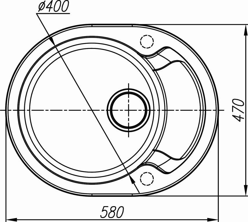 Схема кухонная мойка Dr. Gans 580