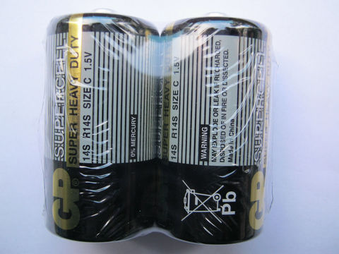 Батарейки GP C 1.5B, 2 шт